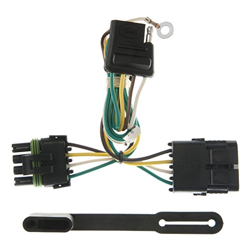 (CURT 55319 Vehicle-Side Custom 4-Pin Trailer Wiring Harness for Select Cadillac, Chevrolet, GMC SUVs)