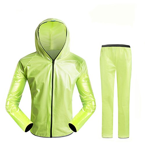 Cycling Rain Jacket Waterproof Women and Men's Hooded Jacket and Pants Rain Coat Windproof Jacket Suit supplier