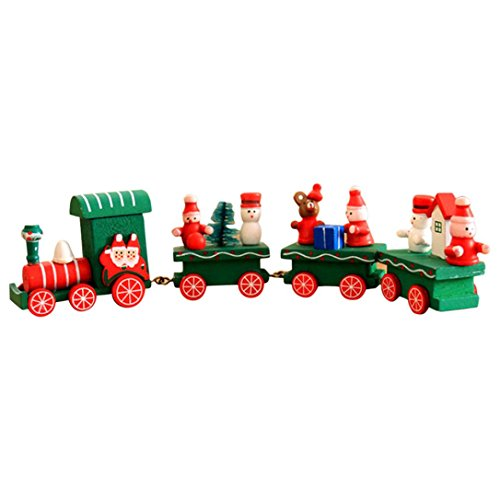 Christmas Gift,Han Shi Fun Children Woods Small Train Decoration Kindergarten Festive Toys (L, A) -