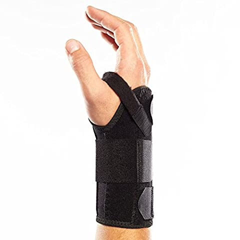 First Brace - Fitted Adjustable Wrist Brace and Hand Splint - Carpal Tunnel, Sprain - Left Hand (XL-XXL)