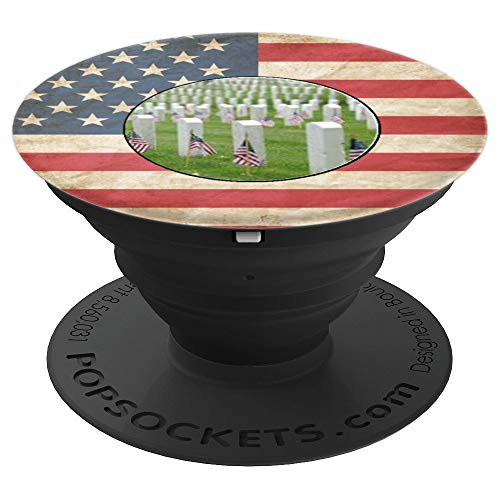 Memorial Day Image Vintage American Flag - PopSockets Grip and Stand for Phones and Tablets