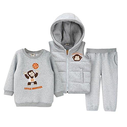 Boys Girls 3pcs Clothing Sets Sweatshirt + Pants + Vest C...
