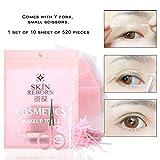 Ocamo 520 Pcs/bag Eyelid Tape Eye Decoration Invisible Double Sides Eyelid Stickers Magic