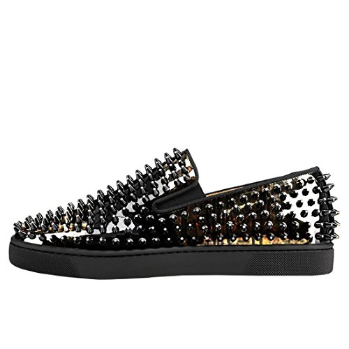 Koekoeksteken Loafers Voor Heren Laklederen Slip-on Schoenen Zwart