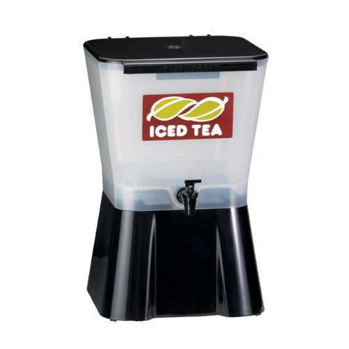 Tablecraft Ice Tea Dispenser, 3-Gallon, White and Black
