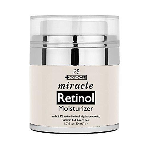 Retinol Moisturizer Cream for Face 1.7 oz with 2.5% retinol, hyaluronic...