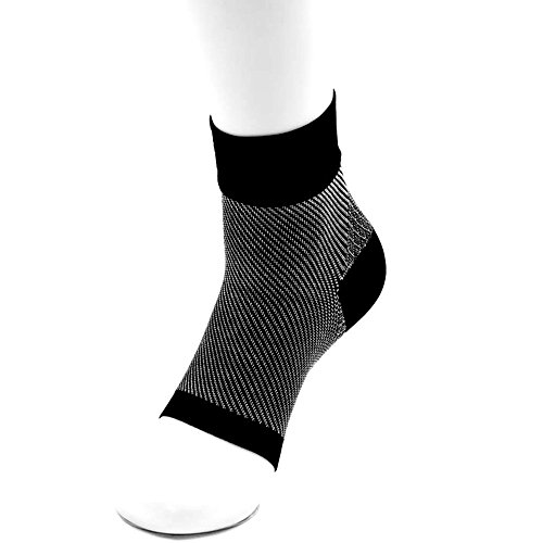 Price comparison product image PLANTAR FASCIITIS SOCK - Compression Socks Foot Care Sleeves - Best for Heel , Arch & Ankle Brace Support - Boosts Circulation , Eases Swellings , Provides Relief & Aids Faster (M, Black)