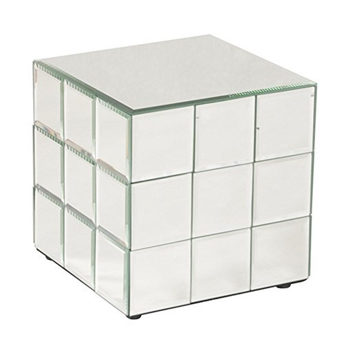 Howard Elliott 11045 Mirrored Puzzle Cube Pedestal, Short ()