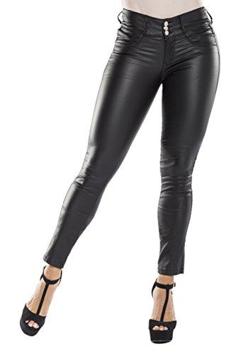 66e2d17c46b3f9 Curvify Matte Black Faux Leather Pants | Mid Waist Butt Lifting Imitation  Leather Jeans Jeans Levanta