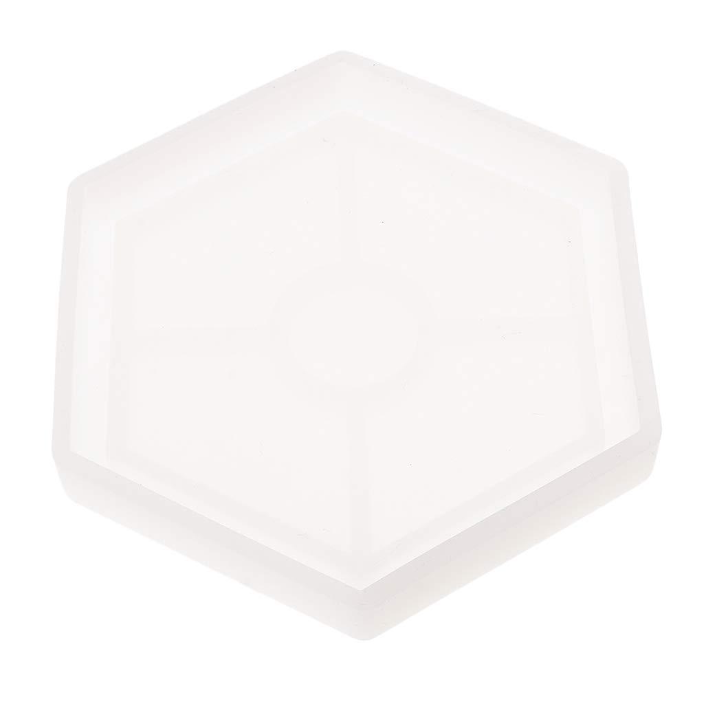 P Prettyia Molde de Silicona Hexagonal Moldes de Fundici/ón Fabricaci/ón Herramientas
