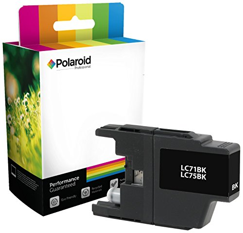 Polaroid Professional B-LC75B-PRO Remanufactured Inkjet Cartridge Replacement for Brother LC71BK, LC75BK, Black Ink (Ink Epson Polaroid Replacement Cartridge)