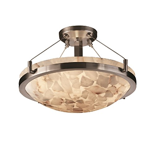 (Justice Design Group Lighting ALR-9681-35-NCKL-LED3-3000 Ring 21