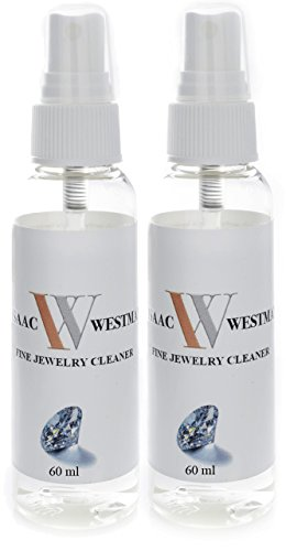 ISAAC WESTMAN 2 Pack Fine Jewelry Cleaner | Diamond, Platinum, Gold & Silver Jewelry | 60ml