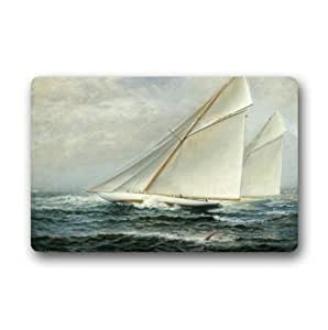 Custom It sea yacht regatta Rectangular Decorative non slip Doormat 15.7 by 23.6 by 3/16-Inch