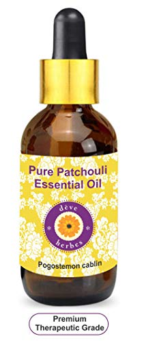 Deve Herbes Pure Patchouli Essential Oil (Pogostemon cablin) with Glass Dropper 100% Natural Therapeutic Grade Steam Distilled 5ml (0.16 oz)