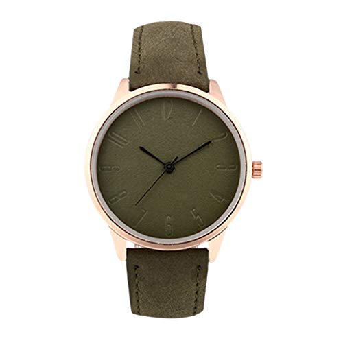 - NXDA Wrist watch women's fashion watch quartz movement sports watch simple easy to read dial (Army Green)