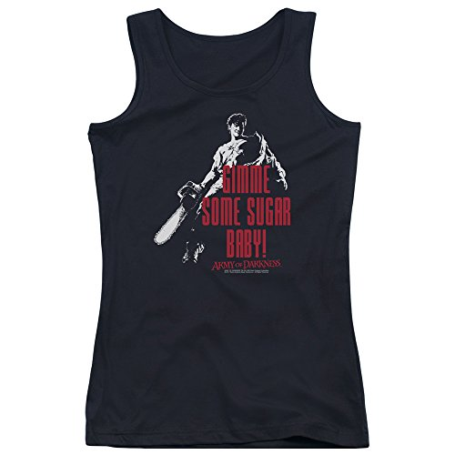 Mgm Army Of Darkness Sugar Juniors Tank Top Shirt Black 2X