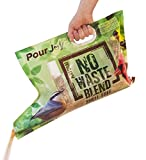 Pour Joy's No Waste Blend, No Mess, 10 lb. Built-in Spout Allows You to Easily Fill Feeders Directly from The Bag! Shell-Free Bird Seed, No Sprouting Seeds.