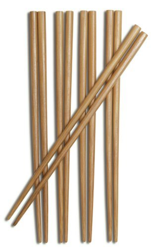 Burnished Bamboo Chopstick Joyce Chen (Joyce Chen 30-0041, 9-Inch Burnished Bamboo Chopsticks, 5-Pair by Joyce Chen)