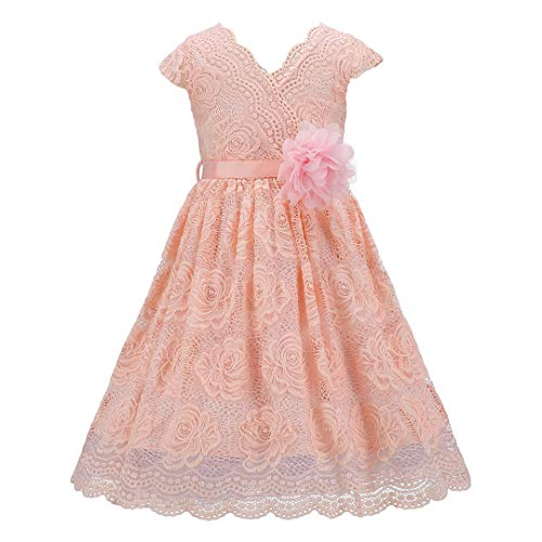 Bow Dream Lace Flower Girl Dress Country Daily Casual Party