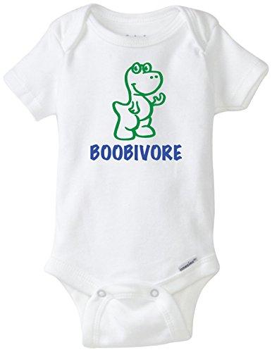 BLAKENREAG Boobivore Breastfeeding Funny Baby Onesie Boy Girl Clothes Bodysuit (6 - Onesie Breastfeeding