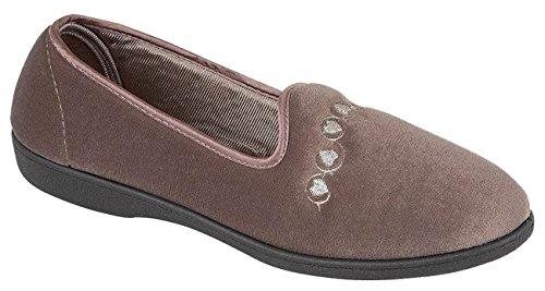 Four Seansons Ladies Flat Moccasins Slippers Slip On Pumps Shoes Boots MONICA-Mink Oik4h1njJ