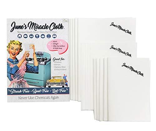 Window Spirit (Home Spirit June's Miracle Cloth, Streak Free Microfiber Cloth, Window Cloth, Car Detailing Towels, Glass Polishing Cloth, Lint Free Cloths, Stainless Steel Wipes, 15pc)