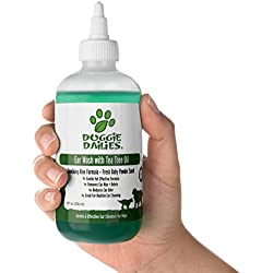 Pet Ear Cleaner Plus Tea Tree Oil, Witch Hazel & Soothing Aloe, Vet Formulated Ear Drops for Dogs & Cats, Gently Removes Wax & Debris, Reduces Odor, and Helps Prevent Mites & Infections, Made in USA