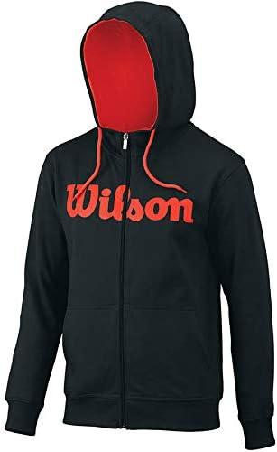 Rot WILSON Herren M M Oberbekleidung Script Cotton Po Hoody Schwarz