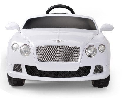 The Ultimate 12v Official Bentley Continental Battery Operated Ride on Car with Remote Control/Functioning Lights/White
