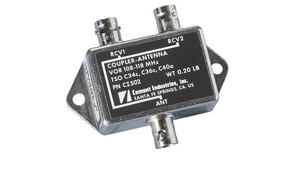 Acoplador vor/108 – 118 MHz/50 ohmios/BNC hembra Conector ...