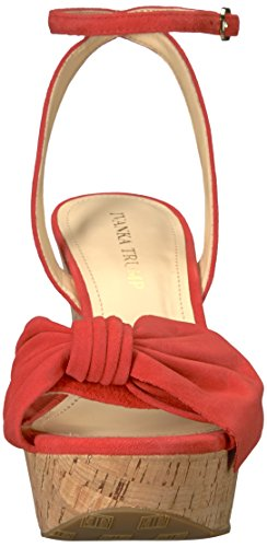 Sandal Heibo Suede Trump Red Women''s Wedge Ivanka 1gFyfBc