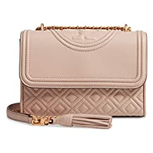 Tory Burch Women's Light Taupe Fleming Small Convertible Shoulder Bag