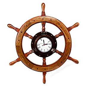 413r4ymrjsL._SS300_ Best Ship Wheel Clocks
