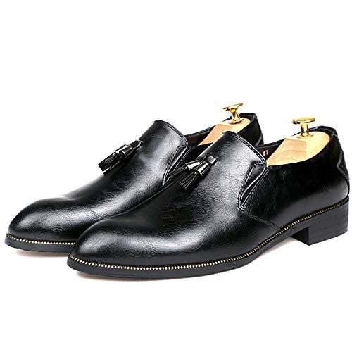 44 Da Punta Color EU Oxford Casual Uomo Jiuyue Business Pelle formali copertura scarpe Nero Dimensione Chic Giallo comoda 2018 uomo Scarpe Tassel shoes Ew1zwqAR