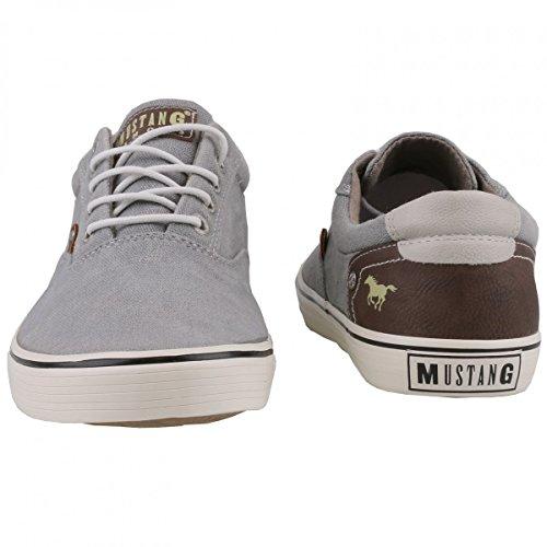 Mustang Herren Canvas Sneaker Grau