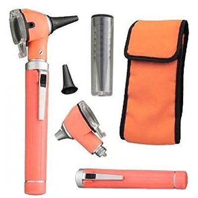 Otoscope - Compact Pocket Size Fiber ENT Optic Otoscope Orange Color