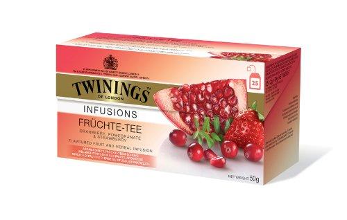 Twinings Früchte-Tee, 25 Beutel x 2g, 50g, 3er Pack (3 x 50 g)