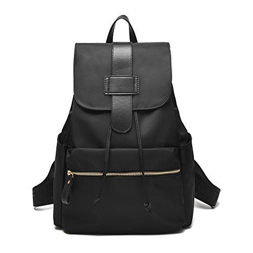 Sprnb señoras bolso, bolsa de tela de nylon Oxford, negro Black