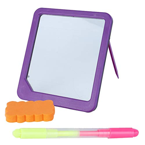LED Message Writing Board Erasable Neon Illuminated Kids Drawing Board with Fluorescent Markers for Kid Gifts, Home Note, Perfect for Shop,Cafe, Bar, Menu, Decoration, School (Purple) ()
