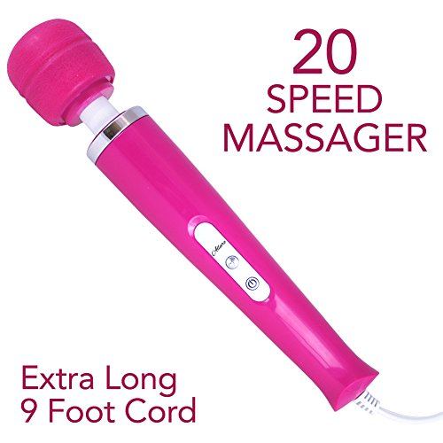 Massage Wand 20 Speed Body Massager for Sore Muscles Therapeutic Handheld Device by Pink B.O.B.