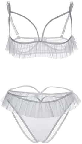 269ebc66e56d91 Uniarmoire Womens Open Cup Lingerie Cupless Bra and Panty Sets