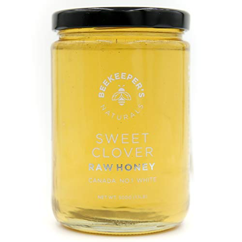 Sweet Tea Border Collection - Sweet Clover Raw Honey by Beekeeper's Naturals | 500g of 100% Pure, Sustainably Sourced Enzymatic Honey | Gluten Free and Paleo Friendly