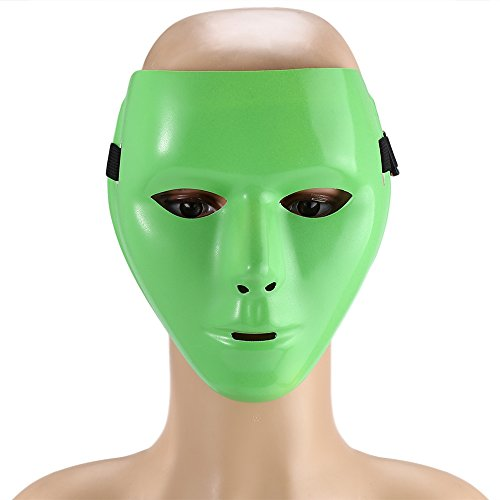 [Men Hip-hop Luminous Mask for Masquerade Dance Jabbawockeez Halloween Costume Accessory Gift] (Jabbawockeez Costumes Halloween)