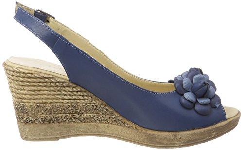 Andrea Conti Damen 1675718 Offene Sandalen Blau (Jeans)