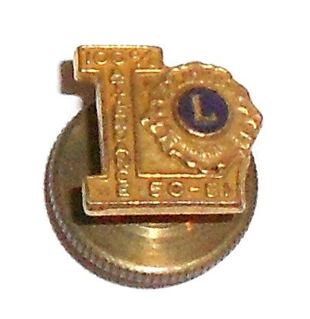[1951 Lions Club International Attendance Award Lapel Pin] (Attendance Award Pin)