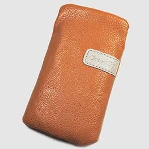 Funda de imitación de cuero para Huawei naranja L U8650 Sonic
