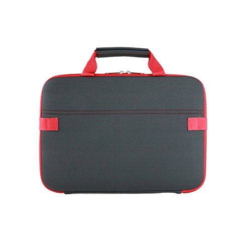 (Speck Products Station Sleeve, Universal Laptop Sleeve for Laptops 13-14 Inches, Charcoal Grey/Dark Poppy Red )