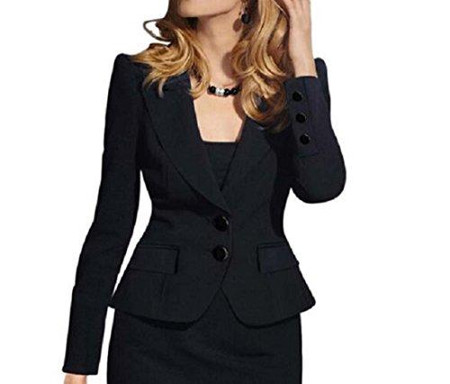 XIAOXAIO Veste tait Noir Court Blanc Mince Rouge Petit Couleur L Petit Femmes Slim Taille Costume Longues Costume Bleu Noir Manches Paragraphe q4PXw4a