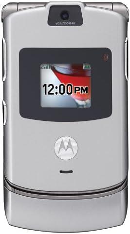 B0016JDE34 Motorola RAZR V3 Unlocked GSM Phone with Camera and Video Player U.S. Version with Warranty (Silver) 413r73fzuzL.